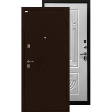 Стальная дверь Ратибор Оптима 3К (Матовый белый)