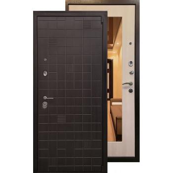 Стальная дверь Ратибор Силуэт 3К с зеркалом (ЭкоДуб)