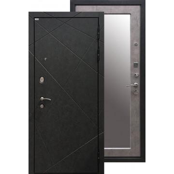 Стальная дверь Ратибор Эстет 3К с зеркалом (Бетон светлый)