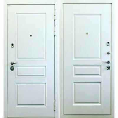 Стальная дверь Ратибор Сноу 3К (Белая матовая)