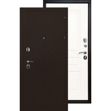 Стальная дверь Ратибор Троя 3К (Белая матовая)