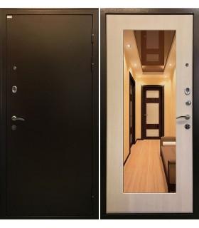 Стальная дверь Ратибор Милан с зеркалом (ЭкоДуб)