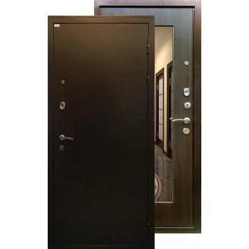 Стальная дверь Ратибор Милан с зеркалом (ЭкоВенге)