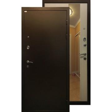 Стальная дверь Ратибор Милан с зеркалом (Лиственница беж)