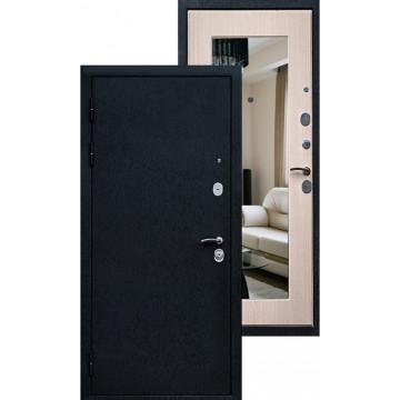 Стальная дверь Ратибор Милан с зеркалом (Дуб выбеленный)